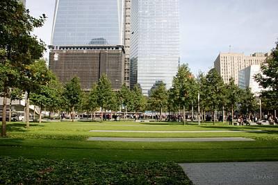 9/11 Grass Print by Rob Hans