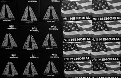 9/11 Memorial For Sale In Black And White Print by Rob Hans