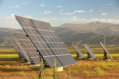 A Photo Voltaic Solar Power Station Print by Ashley Cooper