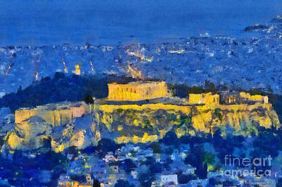Monument Painting - Acropolis Of Athens by George Atsametakis