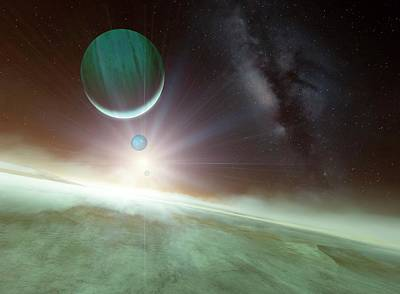 Cosmological Photograph - Alien Planetary System by Detlev Van Ravenswaay