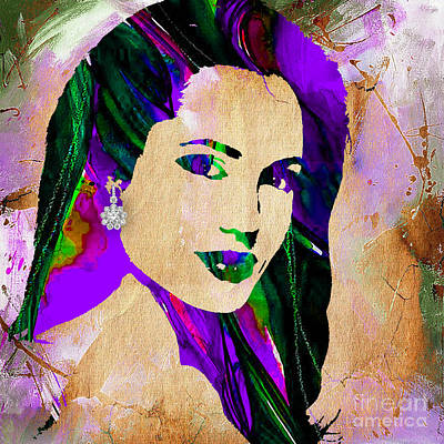 Tomb Mixed Media - Angelina Jolie Collection by Marvin Blaine