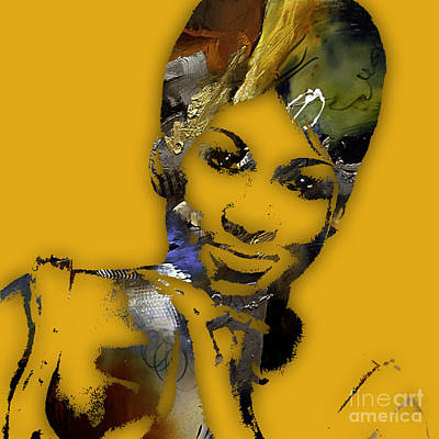 Soul Mixed Media - Aretha Franklin Collection by Marvin Blaine