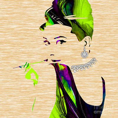 Audrey Hepburn Diamond Collection Print by Marvin Blaine