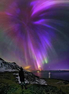 Aurora Borealis Print by Babak Tafreshi