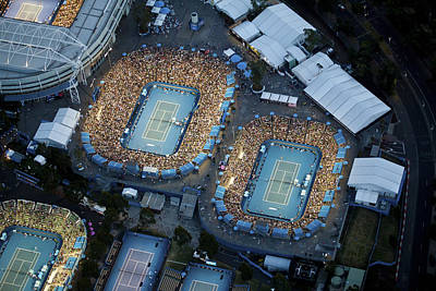 Human Being Photograph - Australlian Open Tennis Venues by Brett Price
