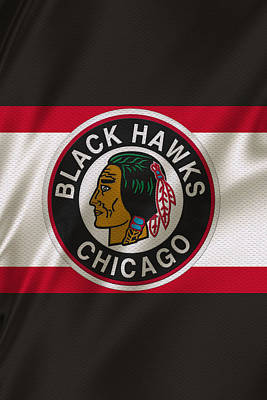 Hockey Photograph - Chicago Blackhawks Uniform by Joe Hamilton
