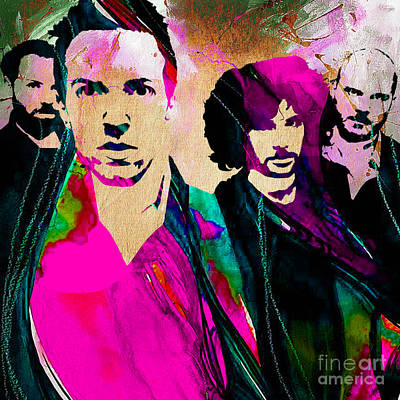 Coldplay Collection Print by Marvin Blaine