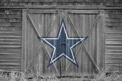 Helmet Photograph - Dallas Cowboys by Joe Hamilton
