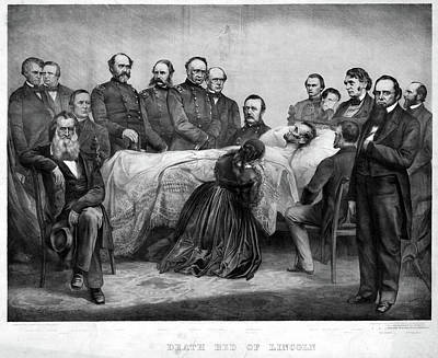 Salmon Painting - Death Of Lincoln, 1865 by Granger