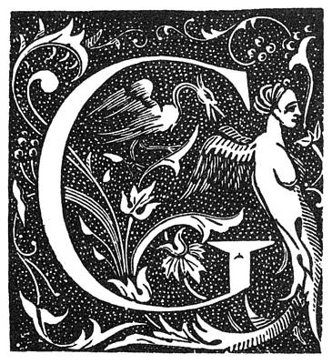 1880s Painting - Decorative Initial G by Granger