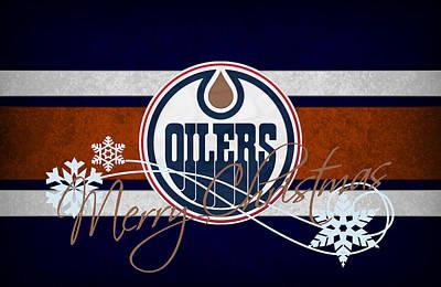 Hockey Photograph - Edmonton Oilers by Joe Hamilton