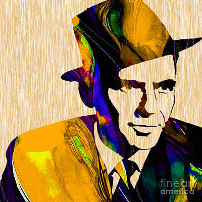 Frank Mixed Media - Frank Sinatra by Marvin Blaine