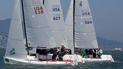 Sausalito Photograph - J70 Start  by Steven Lapkin