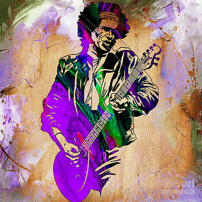 Stones Mixed Media - Keith Richards Collection by Marvin Blaine