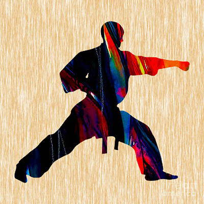 Karate Mixed Media - Martial Arts Karate by Marvin Blaine