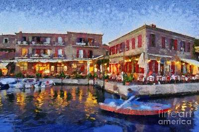 Molyvos Town In Lesvos Island Print by George Atsametakis