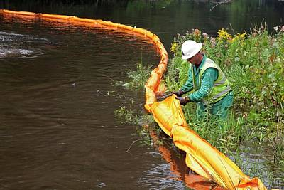 Oil Spill Cleanup Print by Jim West