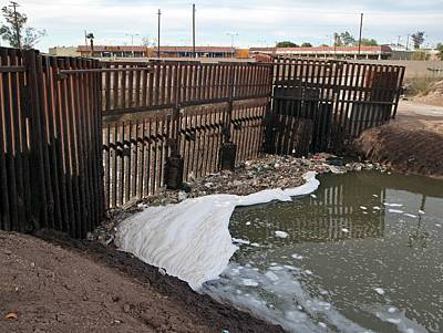 International Border Photograph - Polluted River by Jim West