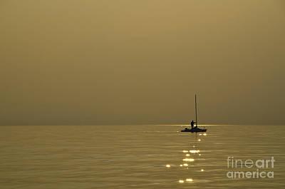 Sailing Boat Print by Mats Silvan