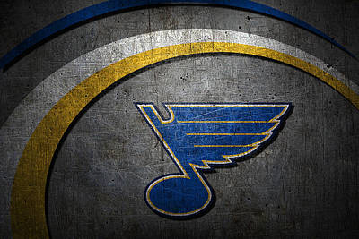 Hockey Sweaters Photograph - St Louis Blues by Joe Hamilton