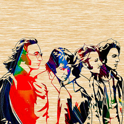 John Mixed Media - The Beatles Collection by Marvin Blaine