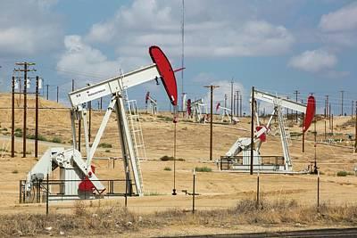 The Kern River Oilfield In Oildale Print by Ashley Cooper