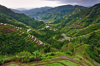 The Rice Terraces Of The Philippine Print by Keren Su