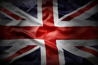 Colored Background Photograph - Union Jack  by Les Cunliffe