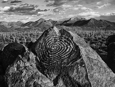 Petroglyph Photograph - Usa, Arizona, Saguaro National Park by Jaynes Gallery