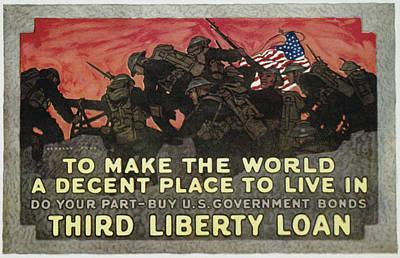 Liberty Painting - World War I Liberty Loan by Granger