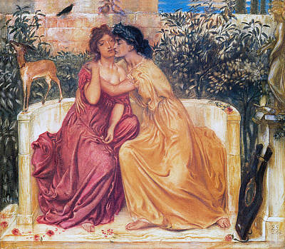 Simeon Painting - Sappho And Erinna In A Garden by Simeon Solomon
