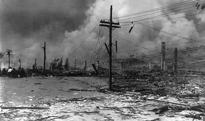 Telephone Poles Photograph - San Francisco Earthquake by Granger