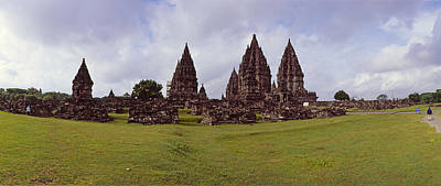 Ancient Civilization Photograph - 9th Century Hindu Temple Prambanan by Panoramic Images