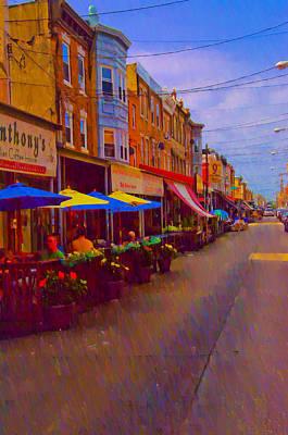9th Street Italian Market Philadelphia Rendering Print by Bill Cannon