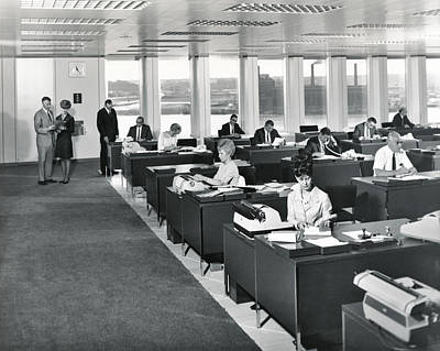 A 1965 Modern Office Print by Underwood Archives