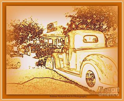 A And W Drive In Print by Bobbee Rickard