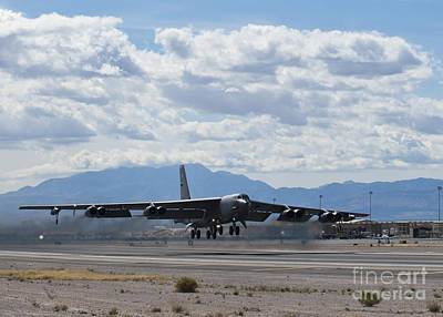 On The Runway Photograph - A B-52 Stratofortress Takes by Stocktrek Images