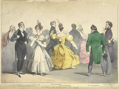A Ball At Almacks In 1815 Print by British Library