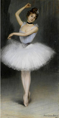 Carrier Painting - A Ballerina by Pierre Carrier-Belleuse