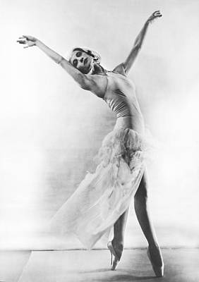 Ability Photograph - A Ballet Dancer by Underwood Archives