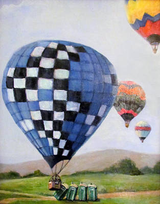 Donna Tucker Painting - A Balloon Disaster by Donna Tucker