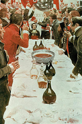 A Banquet To Genet, Illustration From Washington And The French Craze Of 93 By John Bach Mcmaster Print by Howard Pyle