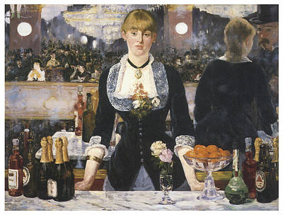 A Bar At The Folies-bergere Print by Edouard Manet