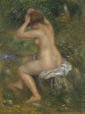 Pierre-auguste Renoir Painting - A Bather by Pierre-Auguste Renoir