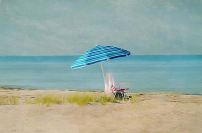 A Beach Day Print by Kim Hojnacki