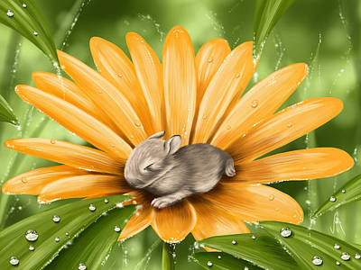 Digital Painting - A Beautiful Flower by Veronica Minozzi