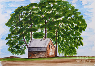 Tree Painting - A Beautiful Place On Earth by Christine Huwer