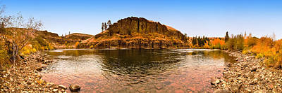 A Bend In The River - Kittitas County - Washington Print by Steve G Bisig