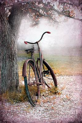 A Bicycle For Romance Print by Sophie Vigneault